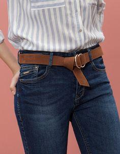 Stradivarius Double buckle belt for woman