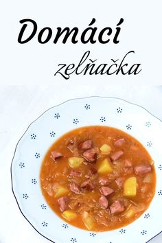 Czech Recipes, Ethnic Recipes, Chana Masala, Cheeseburger Chowder, Ham, Food And Drink, Soup, Fruit, Cooking