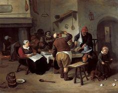 Steen Jan (1626 — 1679) - Большая кухня. 1665-70. 36х45. М Лихтенштейн