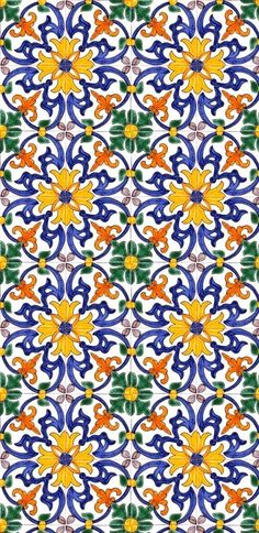 Wall tiles can either make or break a room and choosing the perfect design for your room is of the utmost importance. Tile Patterns, Textures Patterns, Print Patterns, Art Nouveau, Art Deco, Tile Design, Pattern Design, Portuguese Tiles, Tile Art