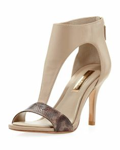 Penza+T-Strap+Sandal,+Taupe++by+BCBGMAXAZRIA+at+Neiman+Marcus+Last+Call.