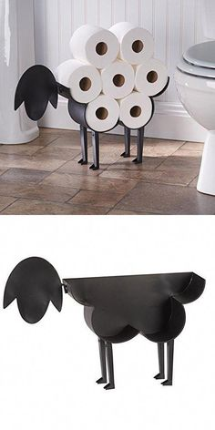 Sheep Toilet Paper Holder - Free-Standing Bathroom Tissue Storage #homedecorbathroomideas