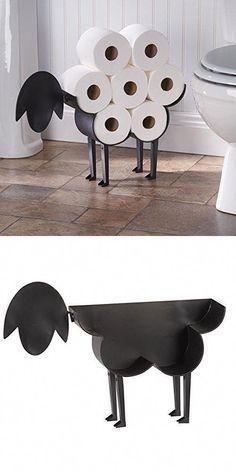Sheep Toilet Paper Holder - Free-Standing Bathroom Tissue Storage #homedecorbathroomideas
