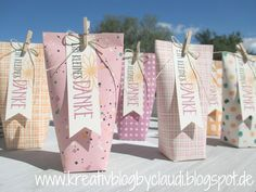 As a small thank you, who have once again wandered into the order bags, I've worked out a box in Stampin Up, Diy And Crafts, Paper Crafts, Envelope Punch Board, Gift Packaging, Little Gifts, Gift Bags, Diy Gifts, Creations