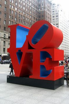 iconic LOVE sign, NYC