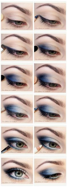 blue eyes  makeup