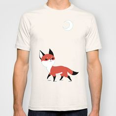 Moon Fox T-shirt by Freeminds - $18.00