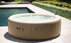 Pure SPA Aufblasbarer Whirlpool Intex 140 #SPA #Pools #Whirlpool # Aufblasbarer #äußere