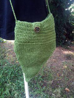 "Crochet purse ""Fairy Leaf Purse"", Handmade Crocheted Crossbody Purse, Winter accessories, Winter Fashion, Woodland, Fairy by PixiesFairies on Etsy"
