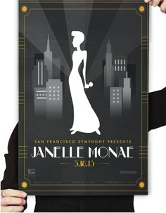 This poster for a fictional Janelle Monae concert was designed by Tyrell Turner (Full Sail Digital Arts and Design, 2013 graduate). #JanelleMonae