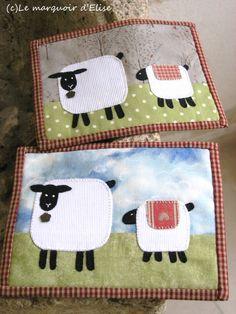 Parce que j'aime les moutons. C'est sympa, les moutons. Alors pour mon marché de Noël, ou pour faire des cadeaux, j'ai fait des moutons. I love sheep. Sheep rock. As gifts and for my Christmas market I thus decided to breed my own flock... J'ai appliqué...