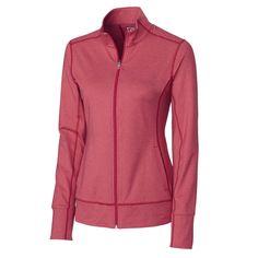 Cutter & Buck Women's Cardinal Red DryTec Topspin Full Zip