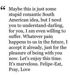Eat Pray Love quote