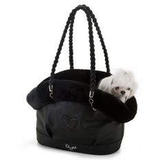 Eh Gia Mimi Bag Ultra Soft Black Hondendraagtas