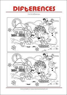 Spot The Difference Worksheets Kids Find 10 Differences Free Printables For Kids Printables Spot The Difference Worksheets Kids Free Printable Worksheets, Worksheets For Kids, Free Printables, Activities For Kids, Spot The Difference Printable, Spot The Difference Puzzle, Find 10 Differences, Find The Difference Pictures, Activity Sheets For Kids