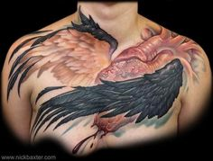 Best Ink Teresa's winged heart chest piece. Also winner of best ink 2013