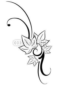 edera tatuaggio tribale................Fotolia.com........... fiori di ciliegio stilizzati tatuaggio