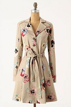 Pansy Corset Trench $198 from Anthropologie
