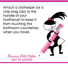 Where will you rest your toothbrush while traveling during this holiday season? #lifehack #travel #holidays #holidayseason #christmas #organizing