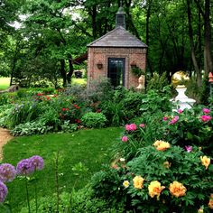 The garden library at Evening Place Gardens.  Local garden tour June 2. Clinton,  MO