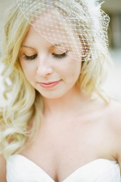 Birdcage Veil - perfect, I don't want ANYTHING over my face haha.