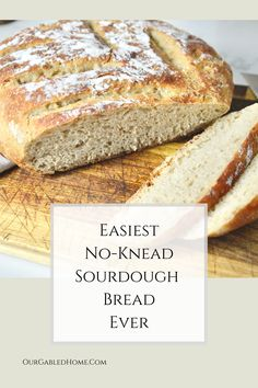 After a lot of experimenting and tweaking, I am so happy to share my perfect, minimal hands-on time, easy no-knead sourdough bread recipe with you! Sourdough Recipes, Sourdough Bread, Healthy Bread Recipes, Real Food Recipes, Easiest Bread Recipe Ever, Homemade Desserts, Homemade Food, Dessert From Scratch, Bread Machine Recipes
