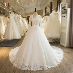 Sl-104 Real Picture Custom Made Long Sleeve Lace Appliques A-line 2017 Wedding Dress Photo, Detailed about Sl-104 Real Picture Custom Made Long Sleeve Lace Appliques A-line 2017 Wedding Dress Picture on Alibaba.com.