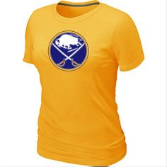 NHL Buffalo Sabres Big   Tall Women s Logo T-Shirt - Yellow  Buffalo Sabres  T Shirts 035  -  12.95   Cheap Hockey Jerseys 3980f91a93