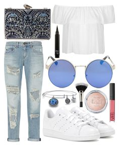 """""""Untitled #633"""" by daimy-style ❤ liked on Polyvore featuring Laura Mercier, rag & bone, Topshop, KOTUR, adidas, NARS Cosmetics and Palm Beach Jewelry"""