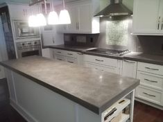 Concrete countertops contemporary kitchen