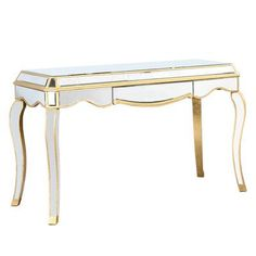 Elegant Lighting Camille Writing Desk with Drawer Finish: Silver