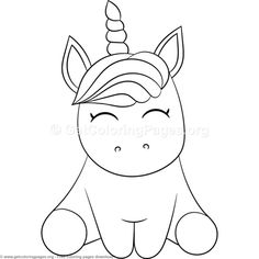 Magic Unicorn Coloring Pages Free instant download # ...