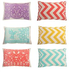 Love these zig zag pillows