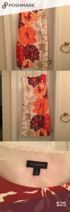 Bright floral dress. Amazing fall colors-flattering and comfortable. Fully lined, only worn a few times. Talbots Dresses