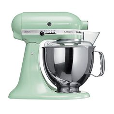 Pistachio KitchenAid® Artisan® Stand Mixer - From Lakeland. I will definitely own this soon!!! I've been waiting too long, I need it!!