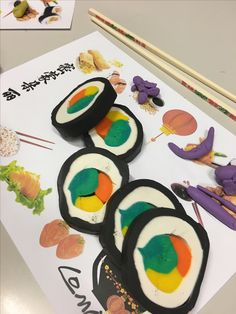 Sushi de plastilina
