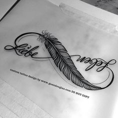 I really like the Phoenix feather incorporated in this infinity tattoo