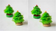 Miniatura de árvore de natal! #craft #xtimas #DIY #natal #artesanato #christmastree #christmas http://vilamulher.terra.com.br/artesanato/passo-a-passo/miniatura-de-arvore-de-natal-17-1-7886495-365.html