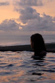 Meet me in the pool down at the beach, right at dusk. My favorite time to swim.