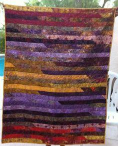 yummy purple batik quilt