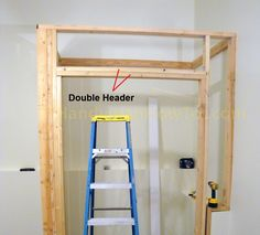 How To Build A Basement Closet Step By Tutorial The Corner Post And Door Rough Opening Are Framed In This Installment Of Project