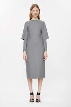 c2bd9484a44 Cut-out sleeve fitted dress Cos Fashion