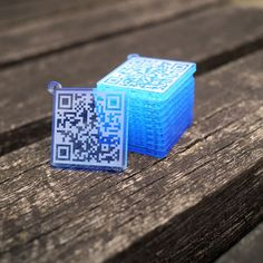 engrave your message or URL in QR CODE form on fluorescent acryl