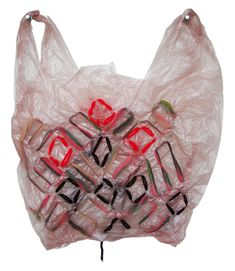 this man makes plastic bags into something beautiful. cool idea.