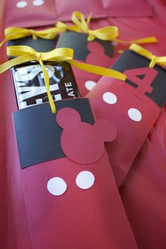Mickey Mouse Candy Bar Sliders
