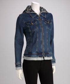 Look what I found on #zulily! Capri Wash Hooded Denim Jacket by Live A Little #zulilyfinds
