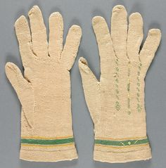 Adult's Gloves, silk, French, 18th century