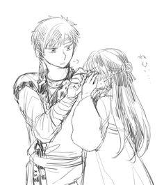 Akatsuki no Yona anime and manga fanart by @CBbackup on twitter // Tae woo and Lili