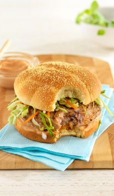 grilled pork burgers - Spice up your next cookout with this fresh take on a classic dish.