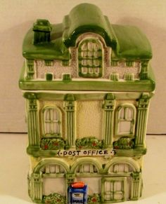 Large Building Canister or House Cookie Jar The Post Office